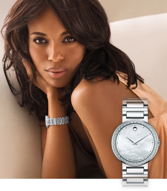 Movado Concerto Watch 0606421 Kerry Washington