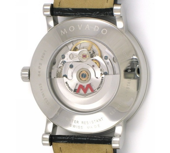 Movado Red Label 0606158 Watch Caseback