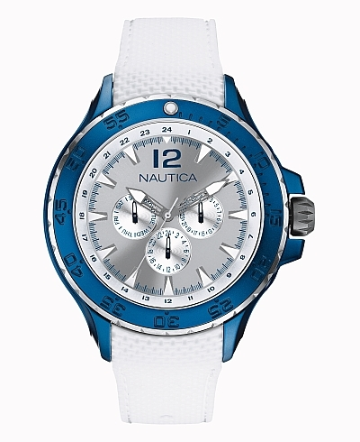 Nautica Sport NST Aluminum Watch Blue White
