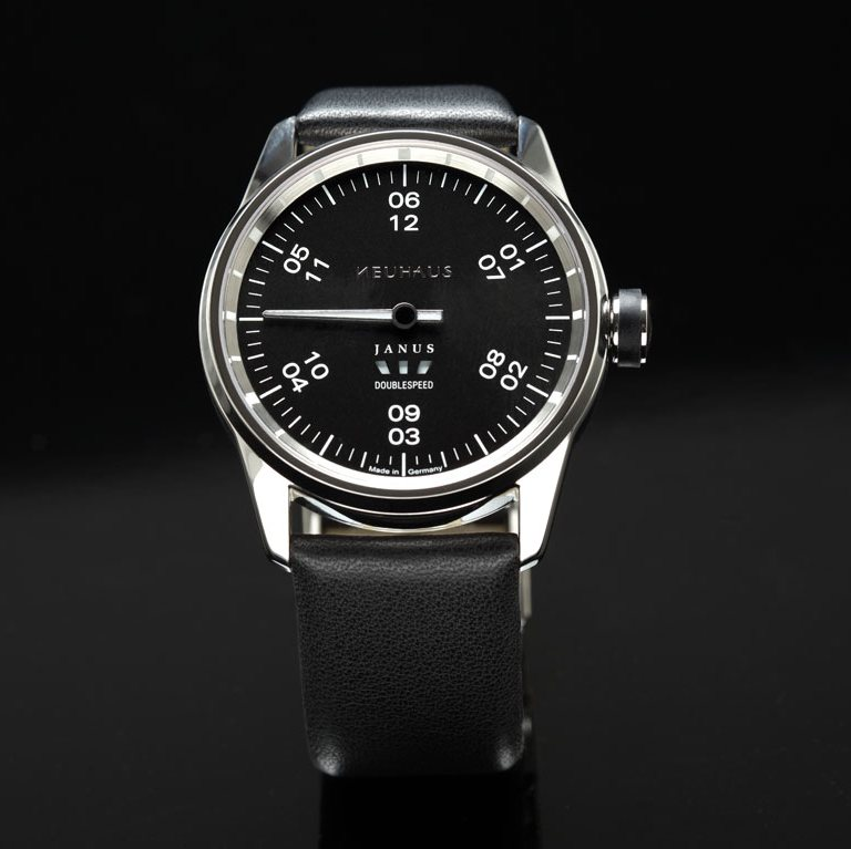 Neuhaus Janus DoubleSpeed Watch Leather Strap