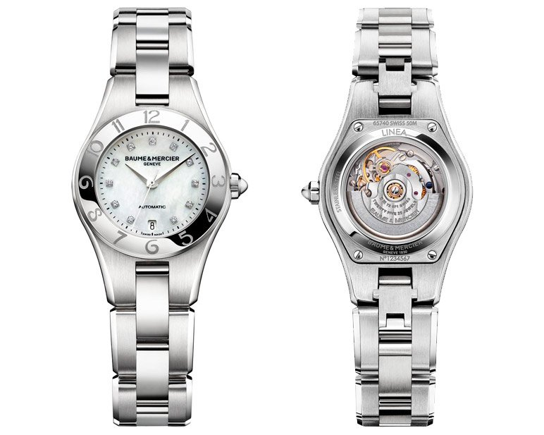Baume et Mercier Linea Collection Linea 10113 Watch Front and Back