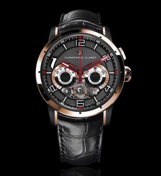 Christophe Claret Kantharos Chronograph Watch Pink Gold