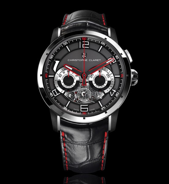 Christophe Claret Kantharos Chronograph Watch White Gold Titanium