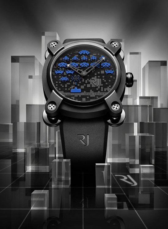 Romain Jerome Space Invaders Blue Colette Watch