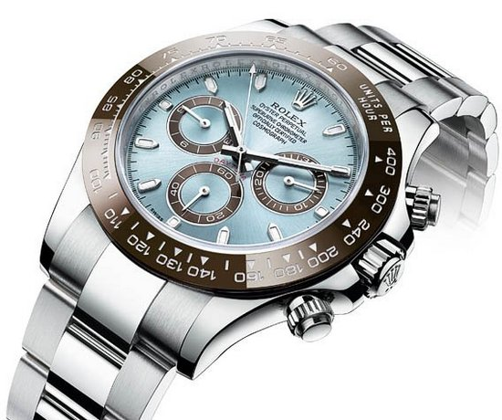 Rolex Cosmograph Daytona Platinum Chronograph Watch