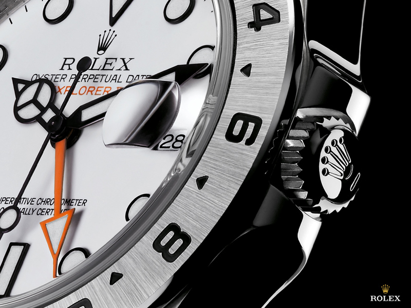 Rolex Oyster Perpetual Explorer II Watch Dial Detail