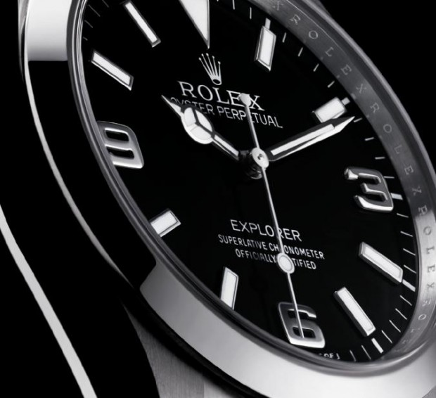 Rolex Oyster Perpetual Explorer Dial Detail