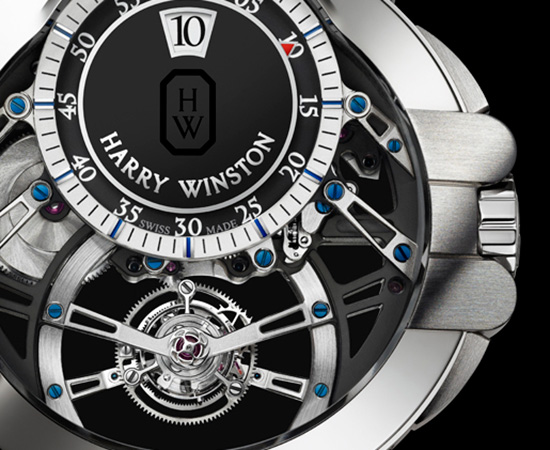 Harry Winston Ocean Tourbillon Jumping Hours Watch Dial