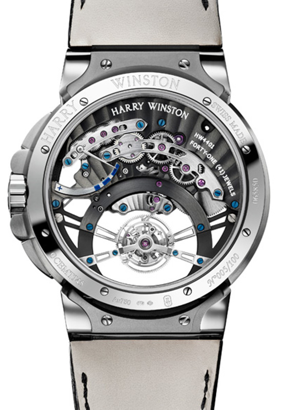 Harry Winston Ocean Tourbillon Jumping Hours Case Back