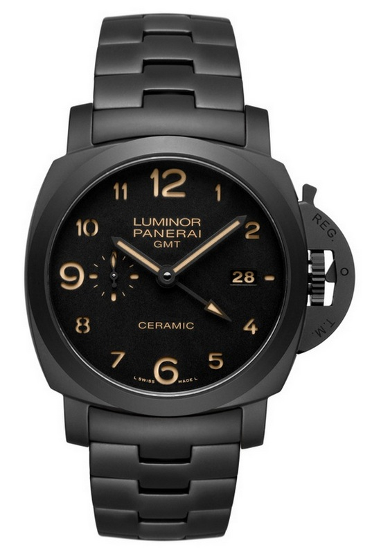 Panerai Luminor 1950 GMT Automatic Ceramica Tuttonero Watch PAM 438
