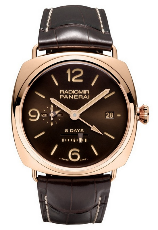 Panerai Radiomir 8 Day GMT Oro Rosso 45mm Watch PAM 395