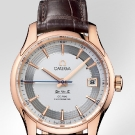 Omega De Ville Hour Vision Watch Red Gold Leather Strap