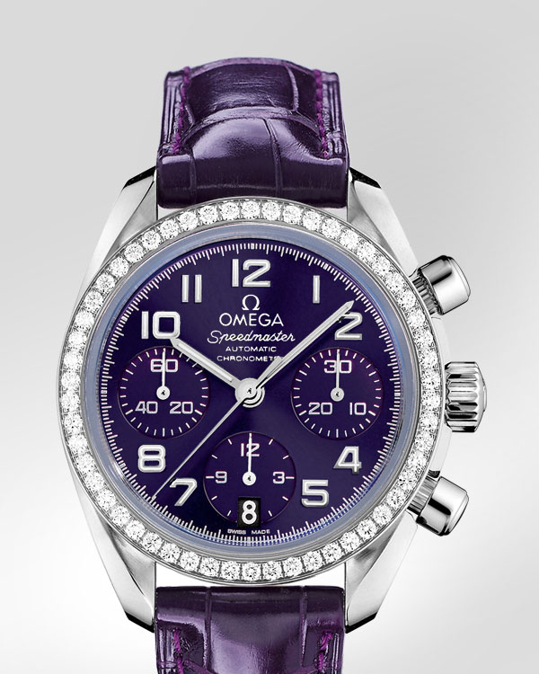 Omega Ladies' Speedmaster Automatic Chronometer Watch Purple