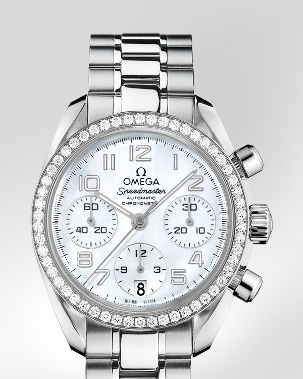 Omega Ladies' Speedmaster Automatic Chronometer Watch White