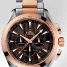 Omega Seamaster Aqua Terra Chronograph Watch Gold Steel