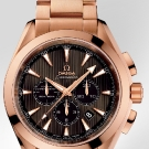 Omega Seamaster Aqua Terra Chronograph Watch Red Gold