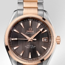 Omega Seamaster Aqua Terra Chronometer Watch Gold Steel
