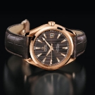 Omega Seamaster Aqua Terra Chronometer Watch Red Gold Leather