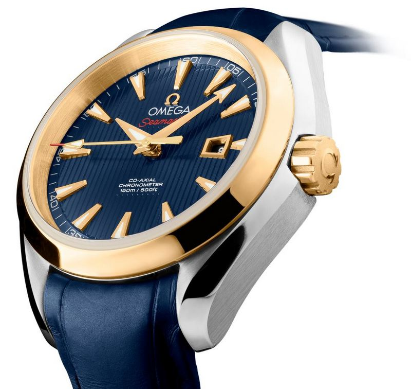 "Omega Seamaster Aqua Terra Co-Axial ""London 2012"" 34mm Ladies' Watch Side"
