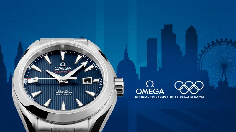 "Omega Seamaster Aqua Terra Co-Axial ""London 2012"" 34mm Ladies' Watch"