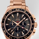Omega Seamaster Aqua Terra GMT Chronograph Watch Red Gold