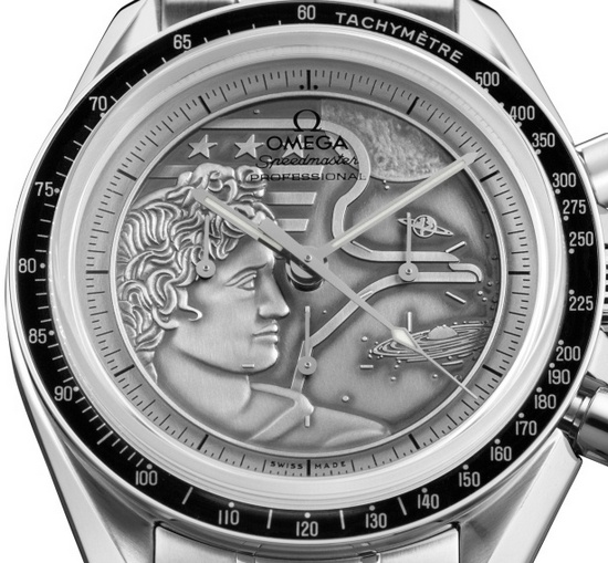 Omega Speedmaster Moonwatch Apollo XVII 40th Anniversary Watch Dial