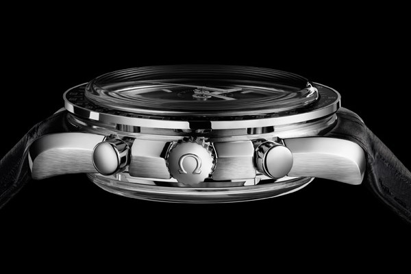Omega Speedmaster Co-Axial Chronograph Watch Side