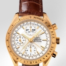 omega-speedmaster-day-date-watch-yellow-gold-on-leather-strap-detail