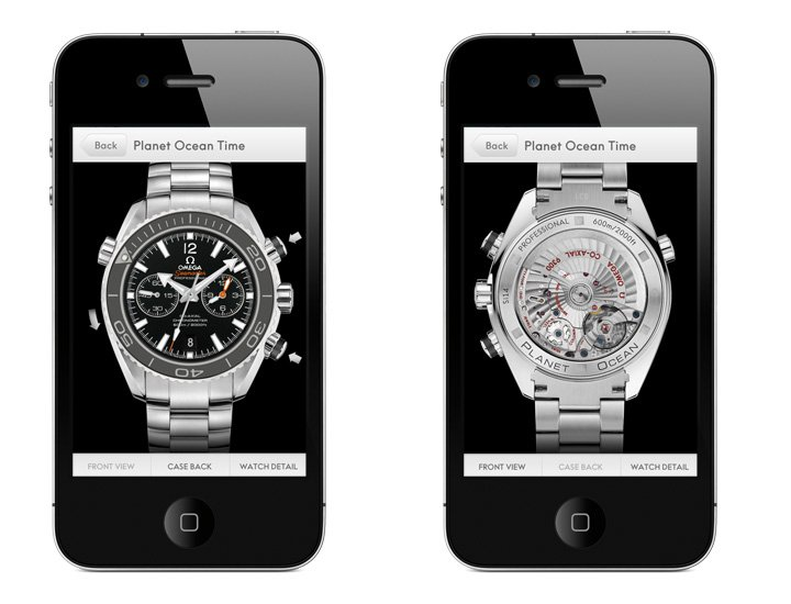 Omega iPhone App new Seamaster Planet Ocean Watch