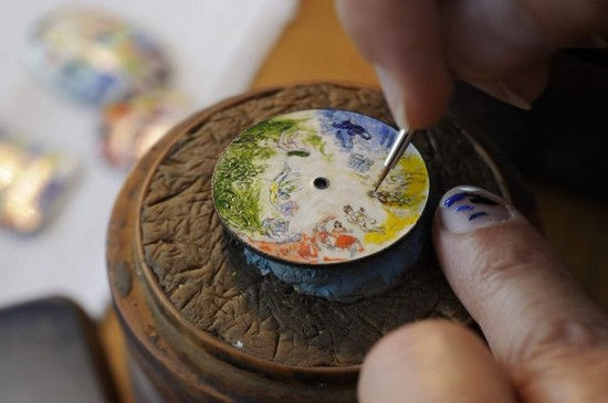 Vacheron Consantin Chagall et l'Opera de Paris Tribute to 4 Composers Watch Dial in Making