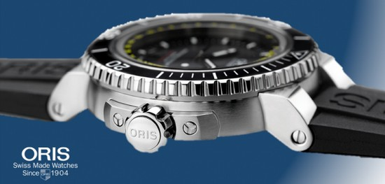 Oris Aquis Dept Gauge Diving Watch Side