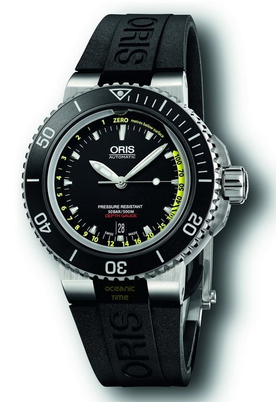 Oris Aquis Dept Gauge Diving Watch
