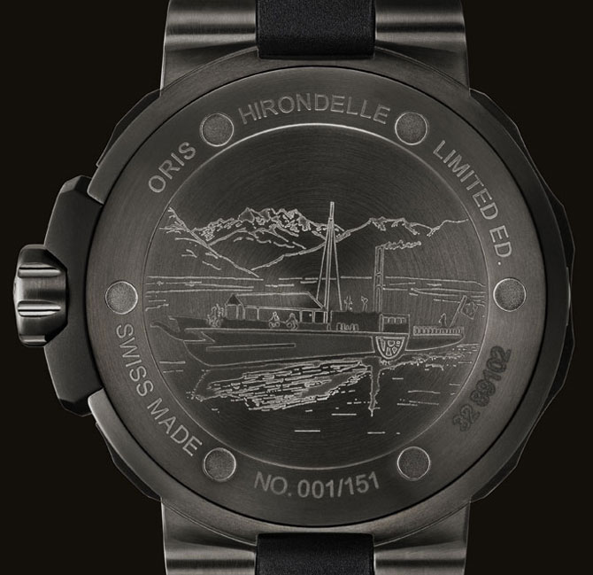 Oris Hirondelle Llimited Edition Case Back Watch
