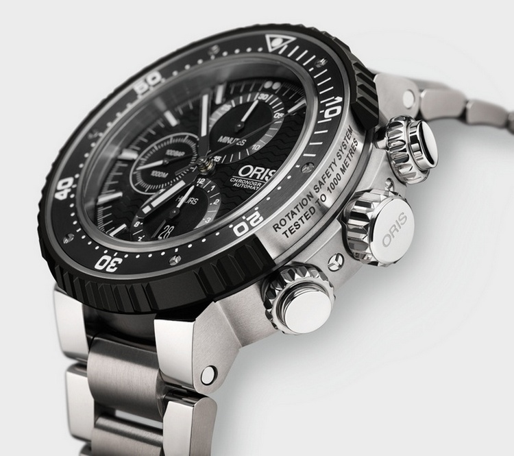 Oris ProDiver Chronograph Watch Side