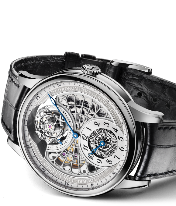 L.Leroy Osmior Skeleton Automatic Tourbillon Regulator Watch ll107-1