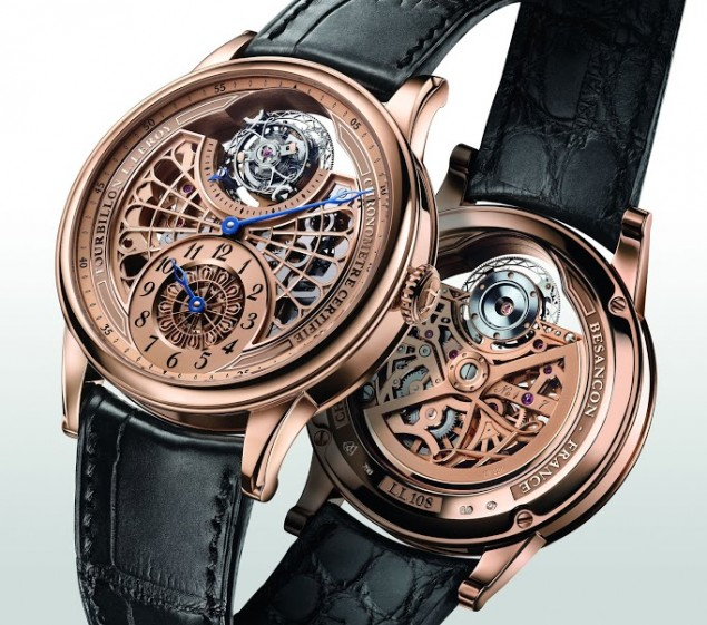 L.Leroy Osmior Skeleton Automatic Tourbillon Regulator Watch ll108-1