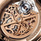 L.Leroy Osmior Skeleton Automatic Tourbillon Regulator Watch ll108-1 Back