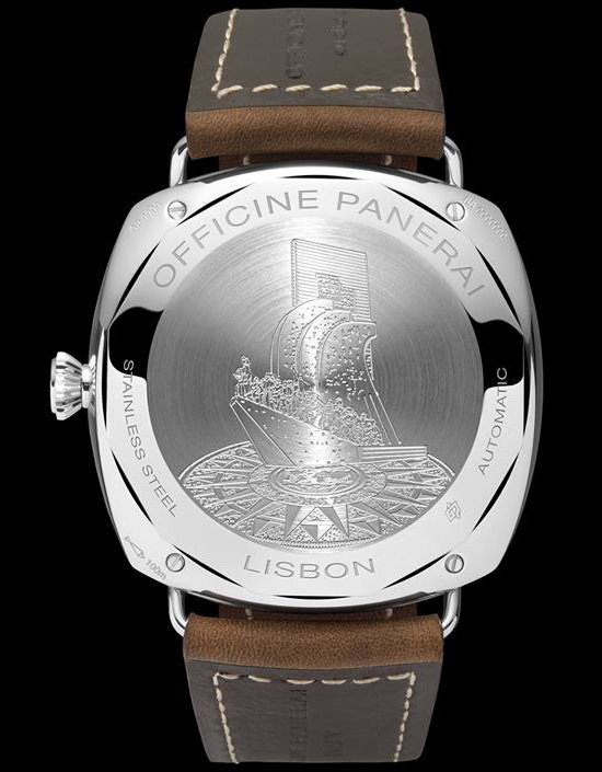 Panerai Radiomir 10 Days GMT PAM550 Lisbon Watch Caseback