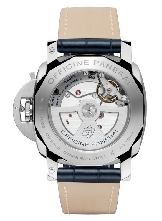Panerai Luminor 1950 10 Days GMT Automatic Acciaio 44 MM Watch Back
