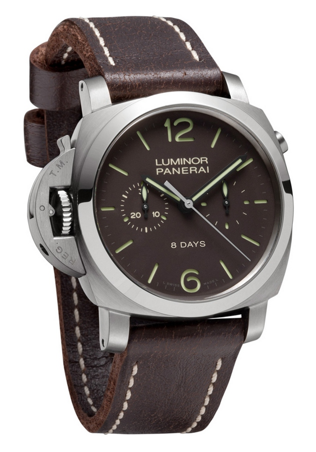 Panerai Luminor 1950 Chrono Monopulsante Left-handed 8 Days Titanio 44mm PAM00345 Watch