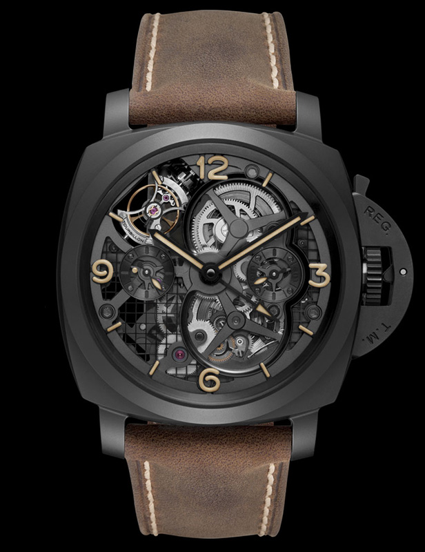 Panerai Lo Scienziato Luminor 1950 Tourbillon GMT Ceramica Watch