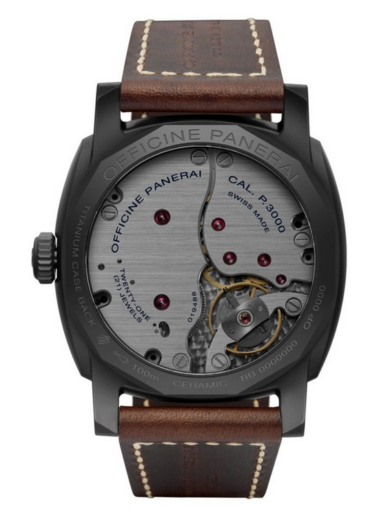Panerai Radiomir 1940 3 Days Ceramica Watch Back