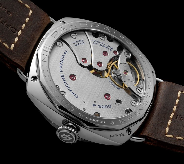 Panerai Radiomir 3 Days Acciaio Brevettato Watch Back