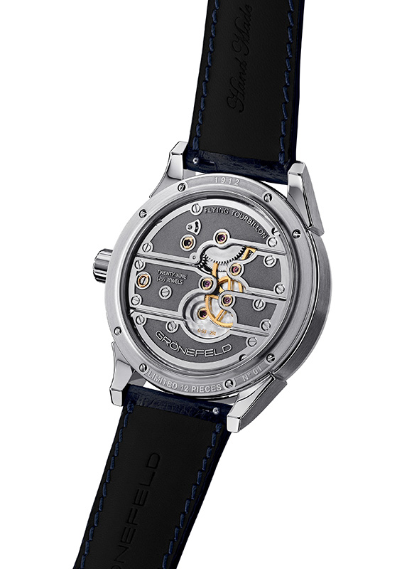 Gronefeld Parallax Tourbillon 1912 Steel  Back