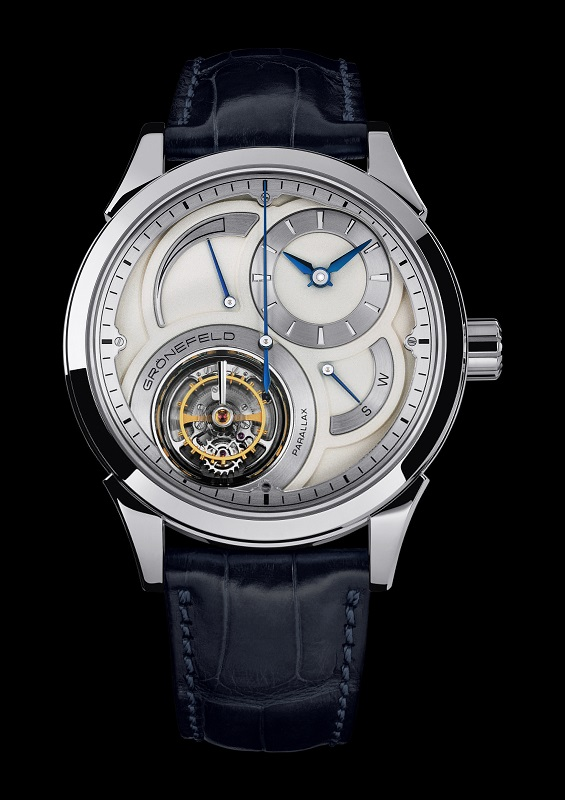 Gronefeld Parallax Tourbillon 1912 Steel Watch
