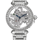 Pasha de Cartier Skeleton Dragon Motif Diamonds Watch