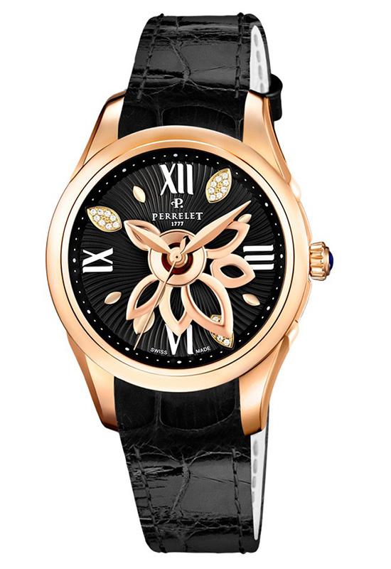 Perrelet New Diamond Flower Watch Black