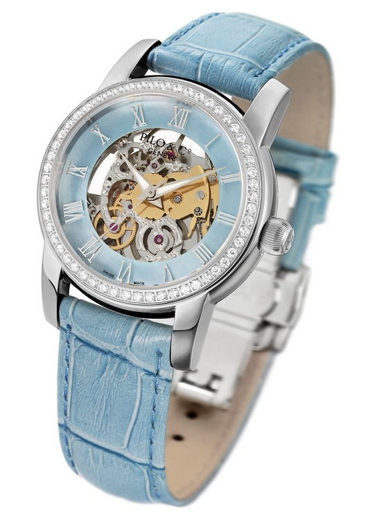 Pilo & Co Tempo Squelette Automatic Watch Blue