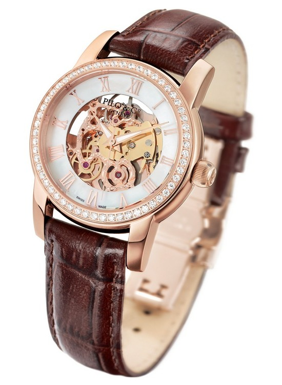 Pilo & Co Tempo Squelette Automatic Watch Brown