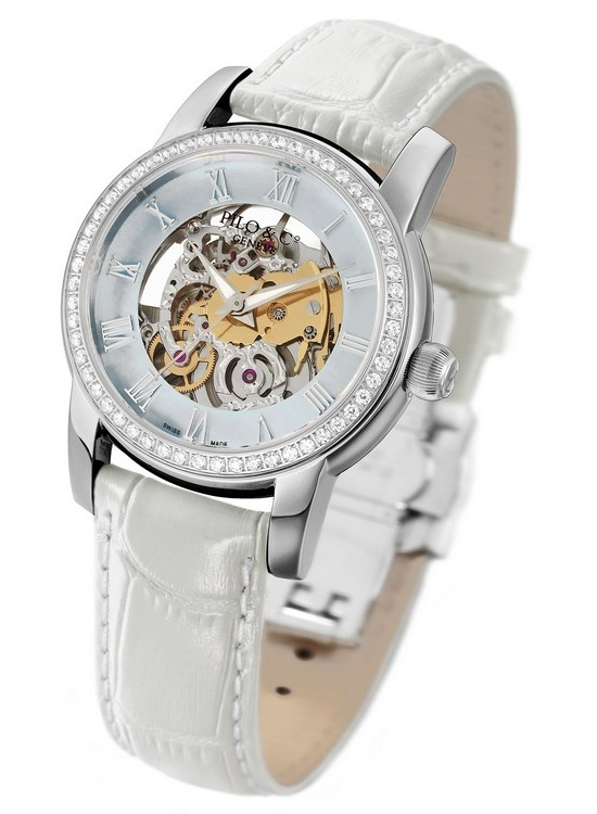 Pilo & Co Tempo Squelette Automatic Watch White